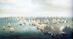 Trafalgar Battle, situation at 13h