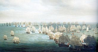 Sailing ship tactics - Nelson's unorthodox head-on attack at the Battle of Trafalgar produced a mêlée that destroyed the Franco-Spanish fleet