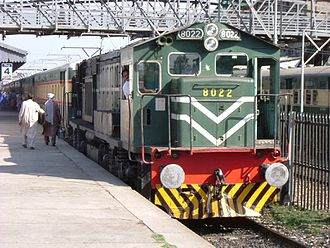 Pakistan Railways - Khyber Mail at Rawalpindi Station