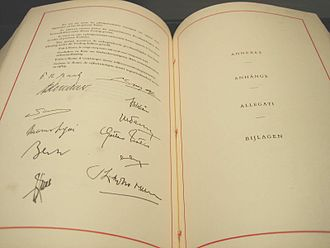 Treaty of Rome - The signature page on the original Treaty of Rome