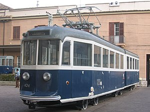 Porta San Paolo Railway Museum - Image: Tram 404