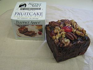 English: Trappist Abbey Fruitcake from the Our...