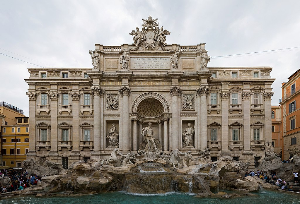 File:Trevi Fountain, Rome, Italy