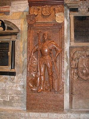 Roberto Sanseverino d'Aragona - Memorial of Roberto da Sanseverino in the Trent Cathedral
