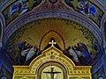 Trieste Tempio serbo-ortodosse della Santissima Trinità e di San Spiridone Innen Abside Est e Iconostasi.jpg