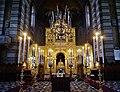 Trieste Tempio serbo-ortodosse della Santissima Trinità e di San Spiridone Innen Iconoastasi 1.jpg