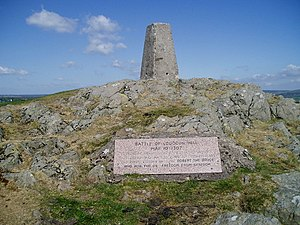 Trig Point and Battle Plaque - geograph.org.uk - 818532.jpg