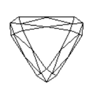 Trilliant cut - A trilliant cut.