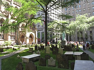Trinity Church Cemetery - Trinity Church Cemetery at Broadway and Wall Street
