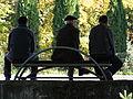 Trio of men in Pena River Park in Tetovo, Macedonia.jpg