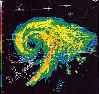 Tropical Storm Allison - Subtropical Storm Allison with an eye-like feature over Mississippi