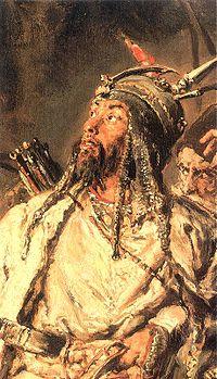 """""""Tugay bey"""", Perekop'ta büyük başarılar elde eden, daha sonra Kozaklar'la birleşip Lehlere karşı savaşan ünlü Kırım Tatar komutanı."""