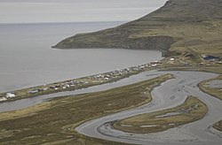 Aerial view of Tununak