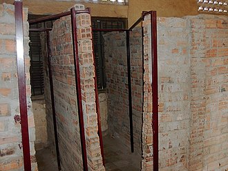 Tuol Sleng Genocide Museum - Many of the school rooms were divided into crude cells