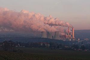 Black Triangle (region) - The Turów thermal power station in Bogatynia, Poland