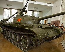الدبابات الاشقاء من العائلة تي ( انها حقا عائلة محترمة اخري ) - صفحة 5 220px-Type_59_tank_-_front_right
