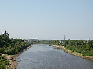 Tyumen - View to flood-lands upstream Tyumen from the right bank (summer 2007)