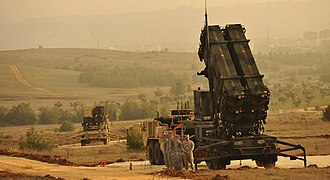 Syrian–Turkish border clashes during the Syrian Civil War - Six batteries of NATO-backed missile defense systems set up in southeastern Turkey to protect against aerial attacks from war-torn Syria.