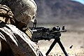 U.S. Marine with Engineer Company, Combat Logistics Regiment 2, 2nd Marine Logistics Group, fires a M240B at the crew serve weapon skills training during Enhanced Mojave Viper (EMV), on Marine Corps Air Ground 120902-M-KS710-050.jpg