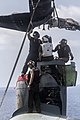 U.S. Marines assigned to Marine Medium Tiltrotor Squadron (VMM) 266 prepare to attach a rotor to an MV-22B Osprey tiltrotor aircraft while performing maintenance on the flight deck of the amphibious assault ship 130504-M-ZC556-014.jpg