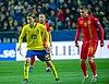UEFA EURO qualifiers Sweden vs Romaina 20190323 Kristoffer Olsson and Razvan Marin.jpg