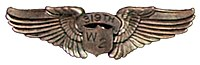 USAAF Wings WASP Pilot Class 43-W-2 1943