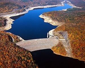 Farmington River - Colebrook River Reservoir on the West Branch Farmington River in Colebrook, Connecticut.