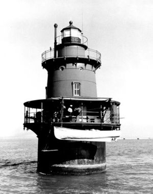 Newport News Middle Ground Light - Image: USC Gnewportnewslight