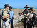 USFWS employees with Director Dan Ashe on Laysan Duck area on East Island (6544792095).jpg
