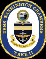 USNS Washington Chambers T-AKE 11 Crest