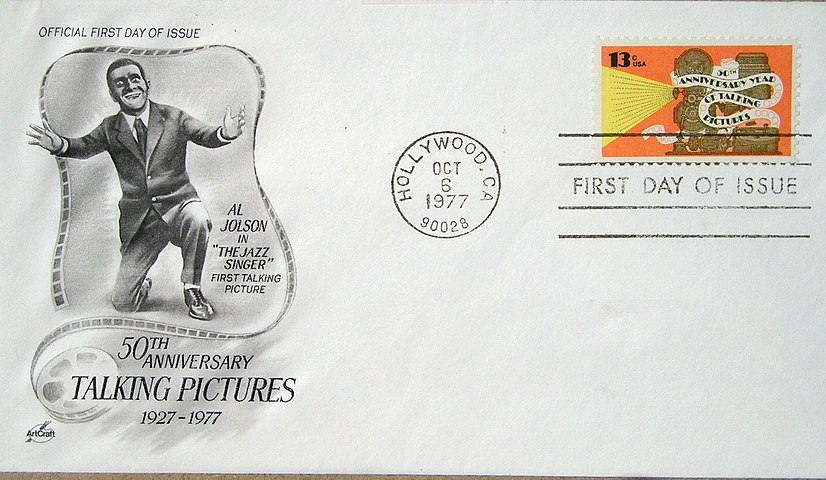 USPOD Al Jolson 1977 First Day Cover-excised address.jpg
