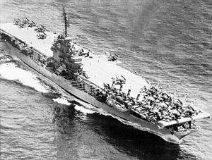 USS Bennington (CV-20) - Bennington in 1954, following her SCB-27A conversion.