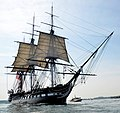 USS Constitution underway, August 19, 2012 by Castle Island cropped.jpg