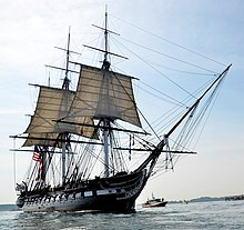 The USS Constitution sailing under its own power in August, 2012