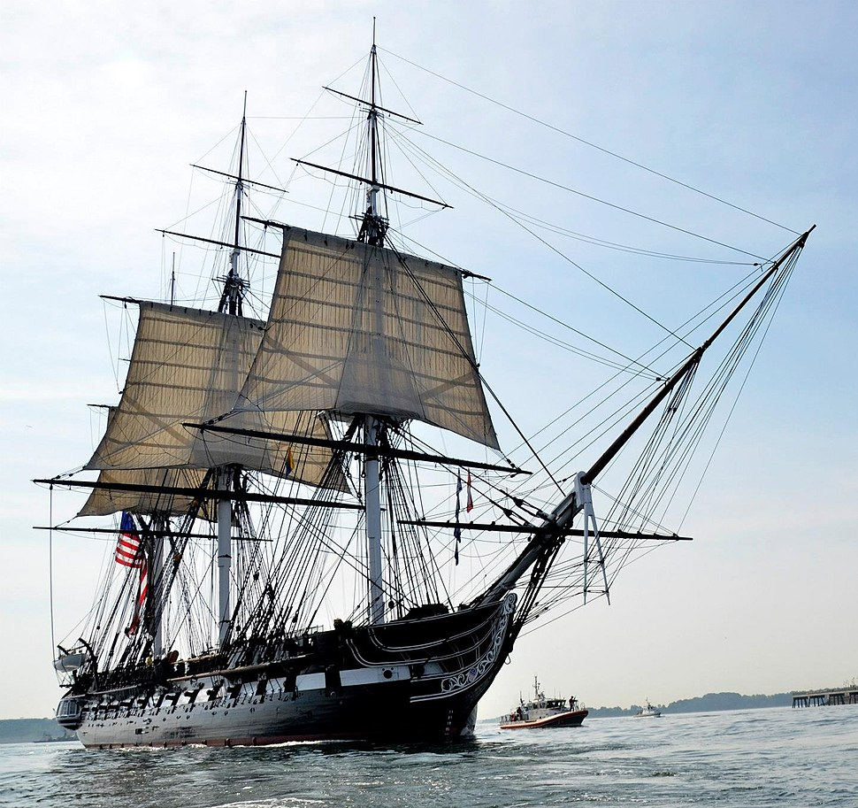 USS Constitution underway, August 19, 2012 by Castle Island cropped