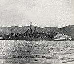 USS Mobile (CL-63) and USS Haven (AH-12) at Nagasaki, Japan, in September 1945.jpg