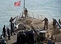 USS Mustin (DDG 89), anchor release (10058746296).jpg