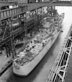 USS Northampton (CLC-1) at the Fore River Shipyard in December 1951.jpg