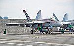 USS Ronald Reagan CVN-76 - 165897 Boeing F-A-18E Super Hornet VFA-137 Kestrels Commander Air Group (CAG) (14207167648).jpg