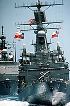 USS TEXAS (CGN-39) and USS PRINCETON (CG-59)