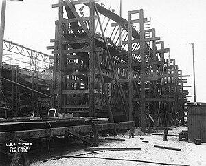 Tucker-class destroyer - Image: USS Tucker (DD 57), under construction January 1915