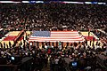 US Navy 041105-N-1557B-001 Members from all the U.S. armed forces join the Chicago Bulls and New Jersey Nets in unfurling the American Flag at the Bulls home opener at the United Center in Chicago, Ill.jpg