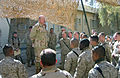 US Navy 050113-N-7798M-081 Chief of Naval Operations (CNO), Adm. Vern Clark, speaks to Sailors assigned to Alpha Surgical Company, 1st Force Service Support Group in Camp Al Asad, Iraq.jpg
