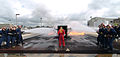 US Navy 050323-N-8977L-025 Students at Fleet Training Center (FTC), San Diego, work as a team to extinguish a fire on a simulated crashed aircraft.jpg