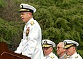 US Navy 060623-N-2383B-444 Chief of Naval Operations (CNO) Adm. Mike Mullen makes remarks during the Change of Office Ceremony for the Chief of Navy Chaplains at the Washington Navy Yard.jpg