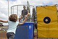 US Navy 070427-N-4856G-020 Lt. (Dr.) Andrew Baldwin, of Lancaster, Pa., stationed at Mobile Diving and Salvage Unit (MDSU) 1, prepares to be dunked.jpg