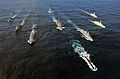 US Navy 070903-N-5459S-046 he ships that make up Standing NATO Maritime Group (SNMG) 1 transit in formation while participating in Exercise Amazolo with the South African navy.jpg