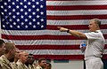 US Navy 080811-N-8273J-108 Chief of Naval Operations (CNO) Adm. Gary Roughead speaks with Sailors during an all hands call at Naval Forces Central Command.jpg