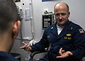 US Navy 081105-N-9900B-003 Command Chaplain Lt. Richard Wiese counsels a Sailor aboard the guided-missile cruiser USS Monterey (CG 61).jpg