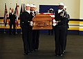 US Navy 090108-N-7948R-003 Sailors assigned to the U.S. Navy Ceremonial Guard headquarters conduct a casket carrying demonstration.jpg